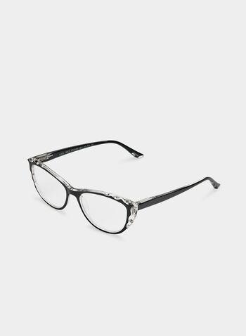 Cat Eye Glasses, Black, hi-res