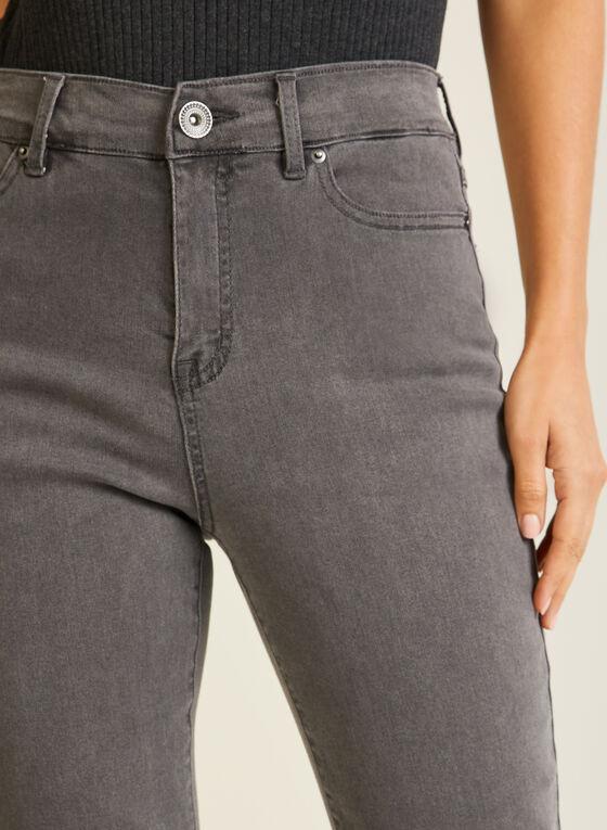 Jeans essentiel à jambe droite, Gris