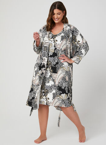 Hamilton - Nightshirt & Robe Set, Multi, hi-res