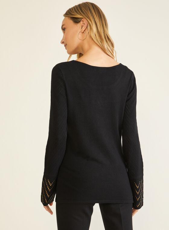 Vex - Stud Detail Sweater, Black