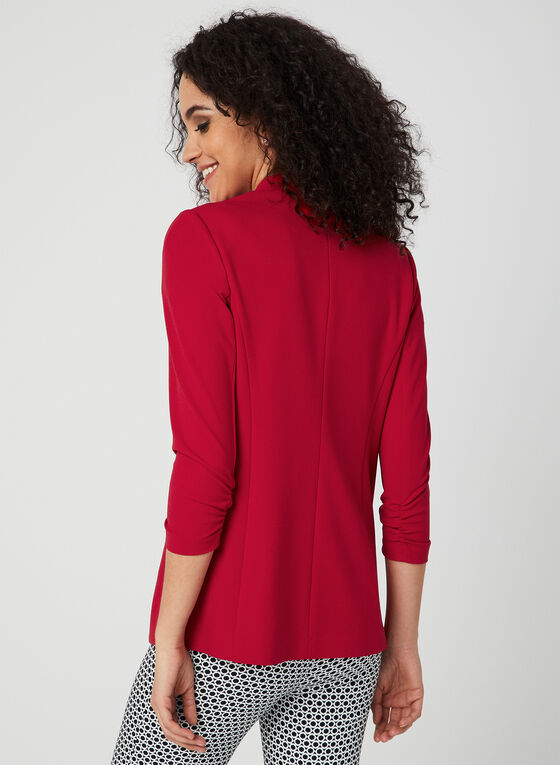 Open-Front Blazer, Red