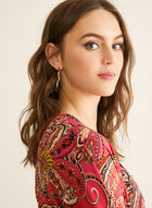 Paisley Print Jersey Top, Red