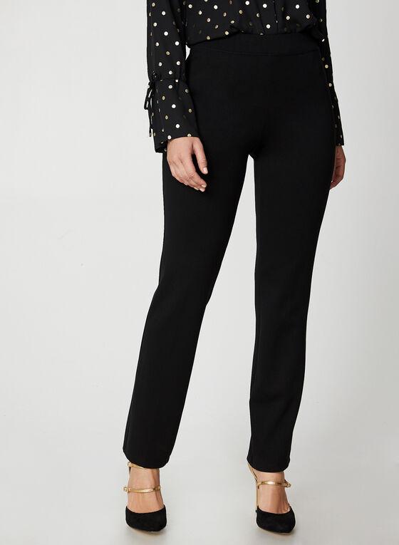 Pantalon coupe signature à jambe droite, Noir