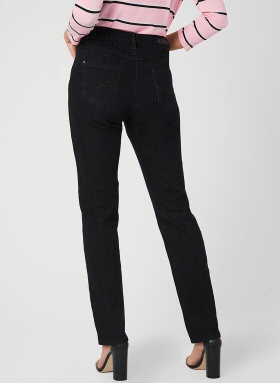 Simon Chang - Signature Fit Straight Leg Jeans, Black