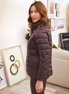 Recycled Packable Quilted Coat, Purple