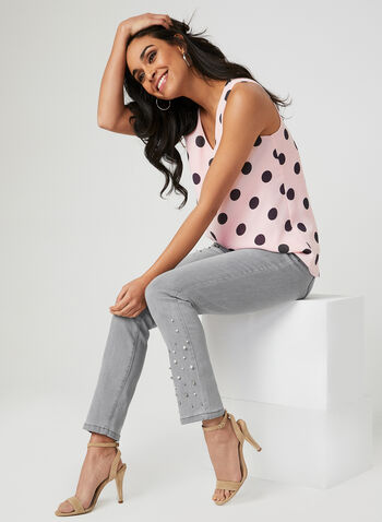 Signature Fit Embellished Jeans, Grey, hi-res,