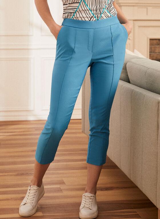 Pull-On Capri Pants, Blue