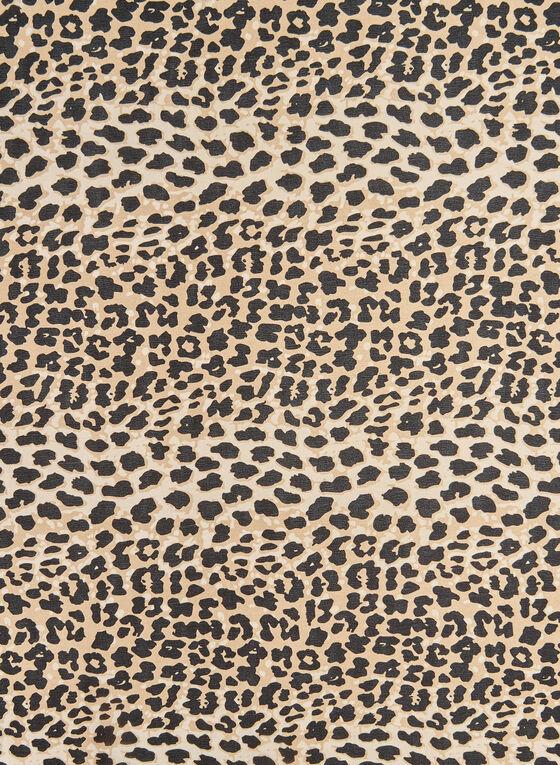 Leopard Print Scarf, Black, hi-res