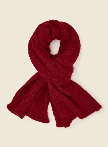 Foulard duveteux texturé, Rouge,  automne hiver 2020, foulard, accessoire