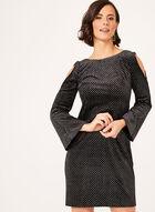 Jessica Howard - Glitter Velvet Dress, Silver, hi-res
