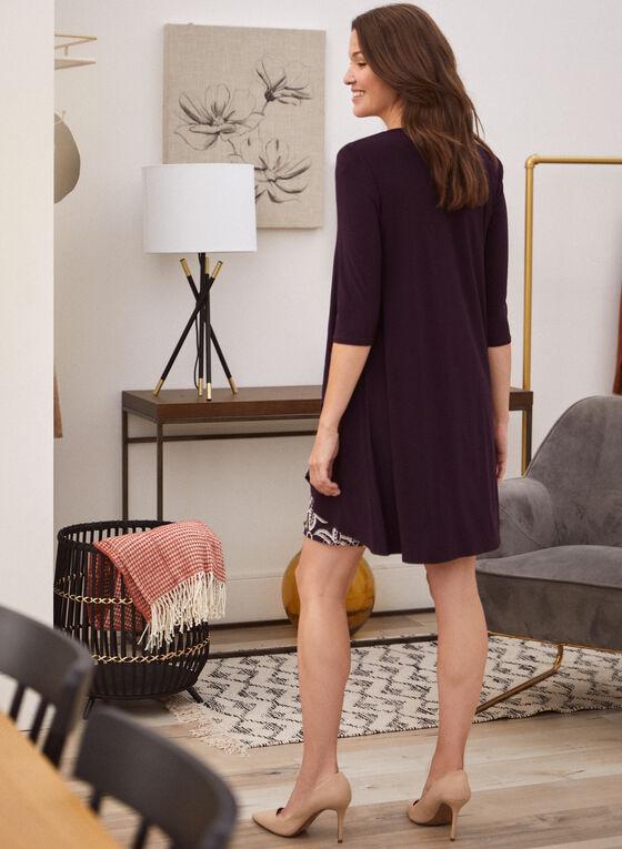 Cardigan & Dress Set, Purple
