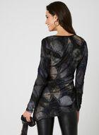 Ness – Tie Dye Print Blouse, Grey, hi-res