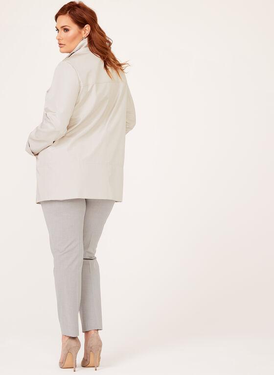 Iridescent A-Line Coat, Off White, hi-res