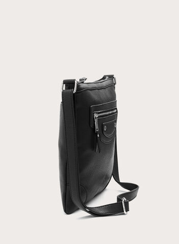 Metal Detail Crossbody Purse, Black, hi-res
