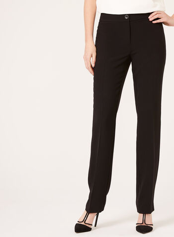 Modern Fit Straight Leg Pants, Black, hi-res,  spring, summer