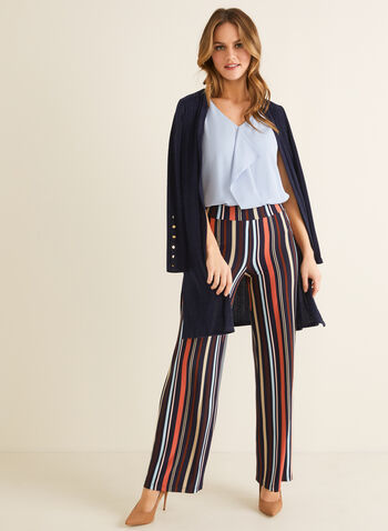 Modern Fit Wide Leg Pants, Multi,  spring summer 2020, pull-on pants, wide leg, stripe print, Modern fit