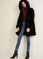 Reversible Faux Fur Coat, Black