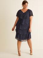Tiered Chiffon Dress, Blue