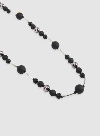Long Bead Necklace, Black, hi-res,  long necklace, beaded necklace