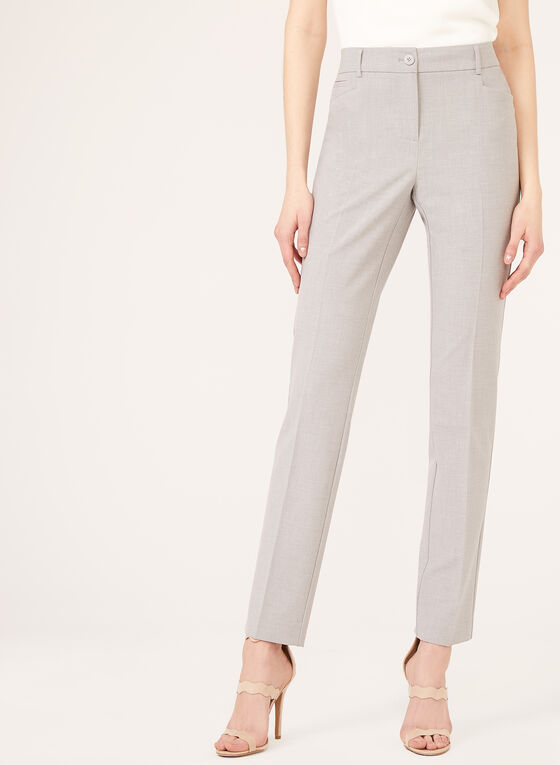 Modern Fit ⅞ Straight Leg Pants, Grey, hi-res