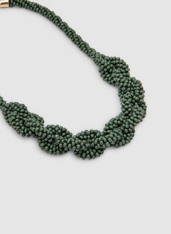 Seed Bead Necklace , Green, hi-res,  necklace, seed bead,