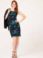 Floral Embroidered Mesh Dress, Black, hi-res