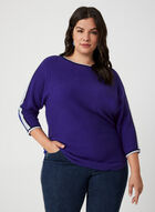 Dolman Sleeve Sweater, Blue