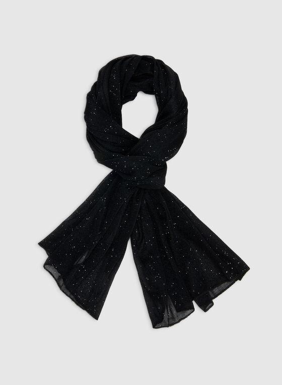 Foulard brillant, Noir, hi-res