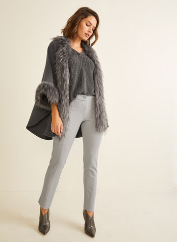 City Fit Mid Rise Pants, Grey,  pants, contour waist, mid rise, slim leg pants, comfortable, fall 2019, winter 2019