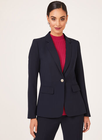 One Button Blazer, Blue, hi-res