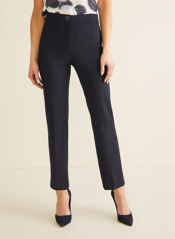 Signature Straight Leg Pants, Blue,  pants, signature pants, straight leg, straight leg pants, high rise pants, comfortable pants, spring 2020, summer 2020