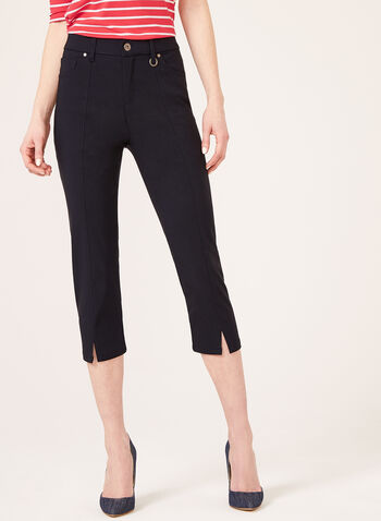Simon Chang –Signature Fit Straight Leg Capri, Blue, hi-res