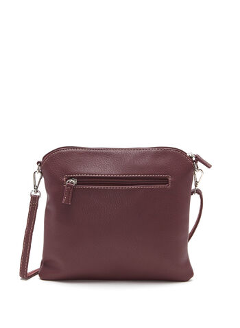Double Tassel Detail Crossbody Bag, Red, hi-res