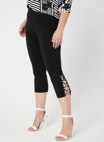 Straight Leg Capris, Black, hi-res,  Spring 2019, capris, pull-on waist, Straight leg