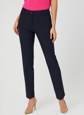 Pantalon coupe cité longueur cheville, Bleu,