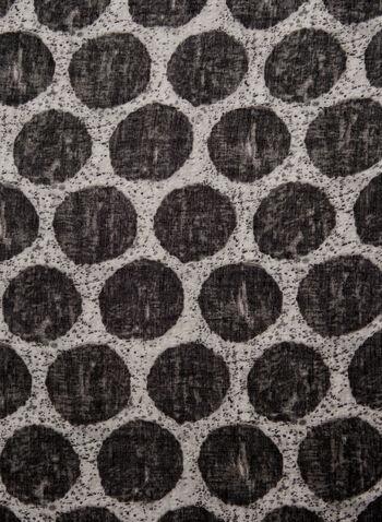 Foulard imprimé pois, Noir, hi-res