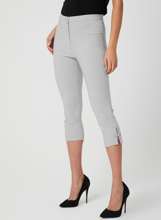 Modern Fit Slim Leg Capris, Grey