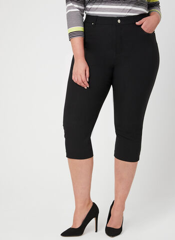 Simon Chang - Signature Fit Capri Pants, Black, hi-res