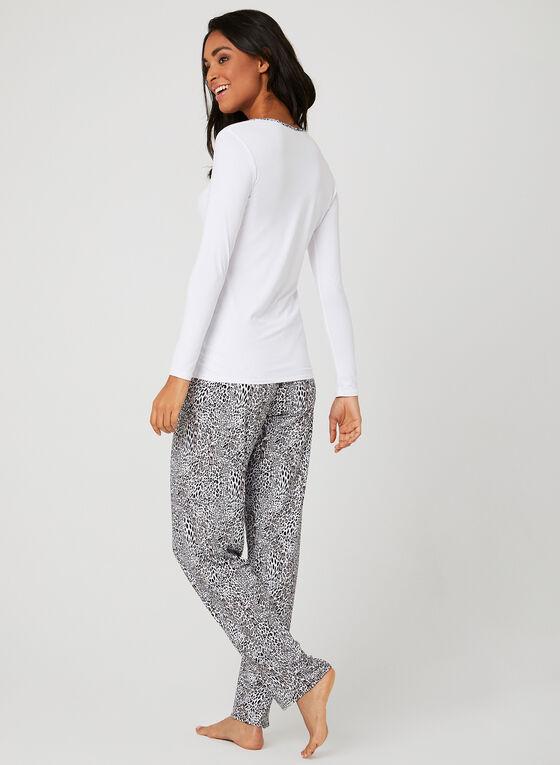 Hamilton - Pyjama deux pièces à imprimé animal , Gris, hi-res