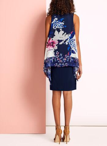 Abstract Floral Print Asymmetric Dress, , hi-res