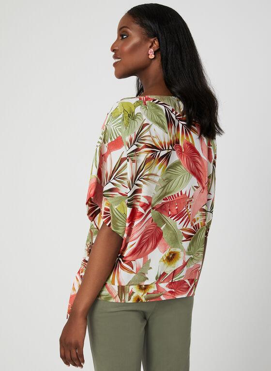 Blouse tropicale à manches kimono, Blanc, hi-res