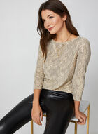 Sequin Snake Print Top, Multi