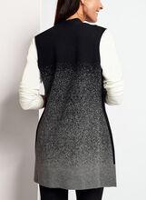 Cardigan sans manches en tricot effet dégradé, Gris, hi-res