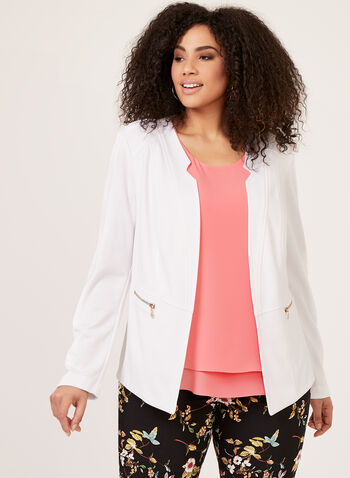 Vex - Open Front Solid Jacket, White, hi-res