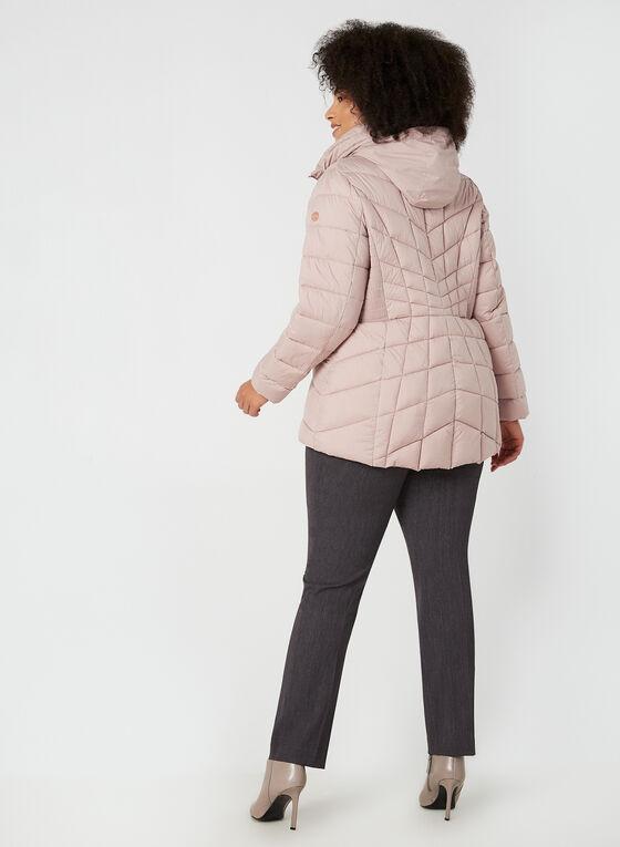 Bernardo - Quilted Packable Coat, Pink