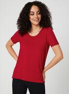 T-shirt à boutons décoratifs, Rouge, hi-res