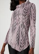 Cable Knit Print Tunic, Multi, hi-res