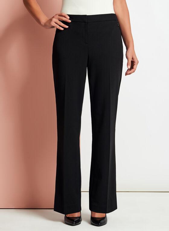Modern Fit Wide Leg Pants, Black, hi-res