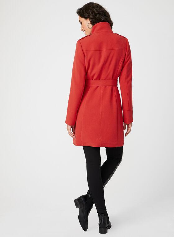 Belted Trench Coat, Orange, hi-res