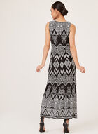 Robe motif aztèque et détail médaillon, Noir, hi-res